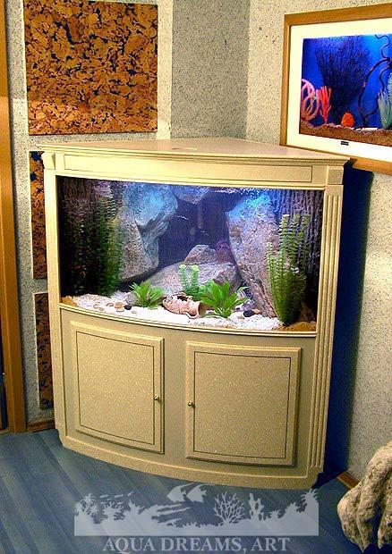 Угловые аквариумы своими руками